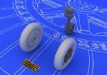 ED648058 1/48 Messerschmitt Bf 109E wheels (Eduard )